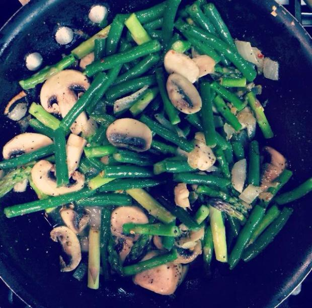 asparagus mixture